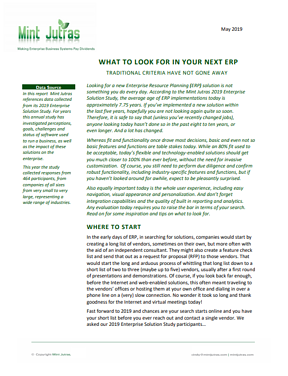 What to look for in your next ERP