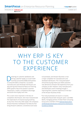 Why ERP is the key to Customer satisfaction